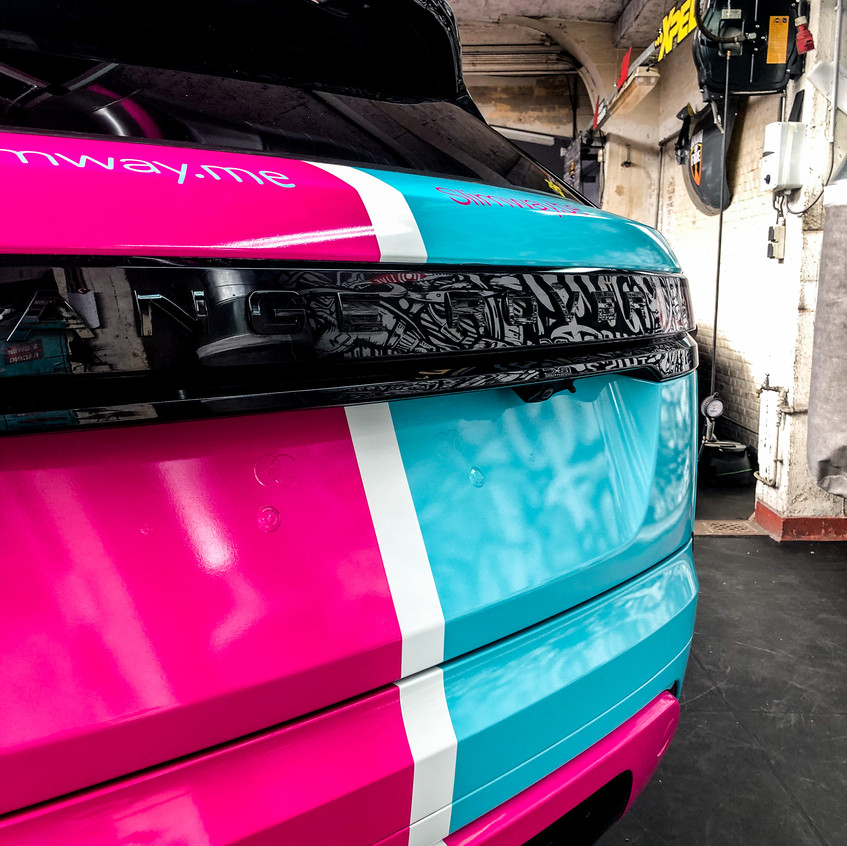 Land rover Velar commercial wrap