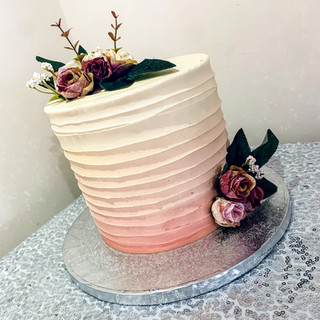 Ombre Buttercream Cake.