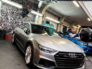Audi A7 - Satin Light Grey Metallic Carwrap
