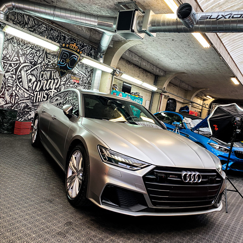 Audi A7 Satin Light Grey Metallic