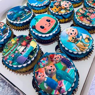 Cocomelon Cupcakes.