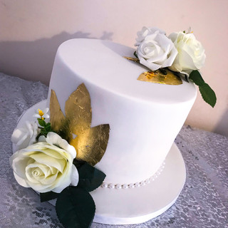 White and Gold Cake.