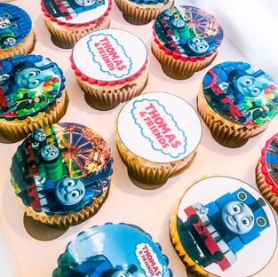 Thomas the Tank Engine Cupcakes.