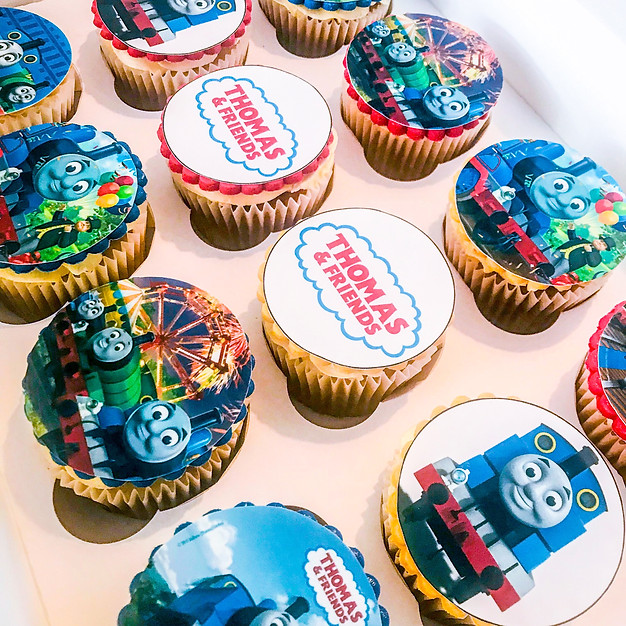 Thomas the Tank Engine Cupcakes.