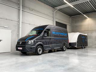 VW Crafter en trailer krijgen een unieke print wrap