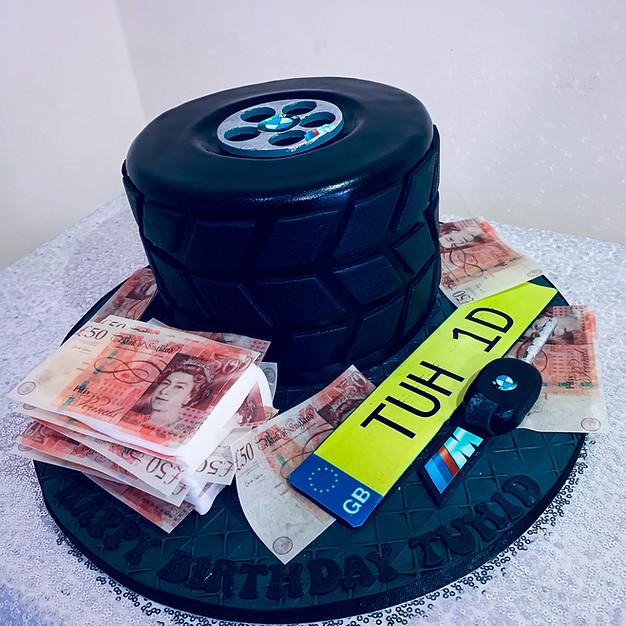 BMW Wheel Cake.