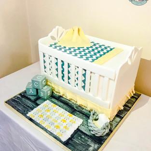 Baby Cot Cake.