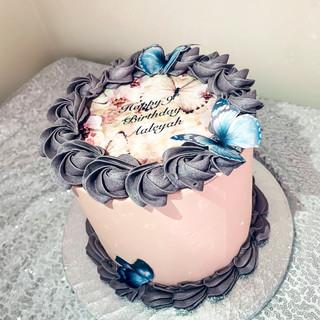 Butterfly Buttercream cake.