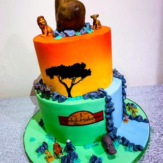 2 Tier Lion King Cake.