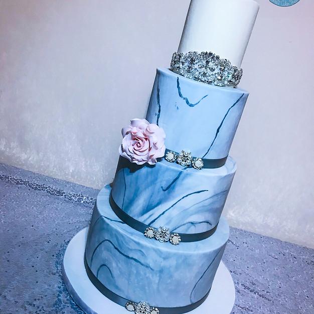 Marble Wedding Cake.