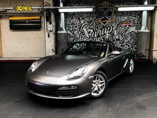 Porsche Boxster - Car wrap Satin Silky Charcoal