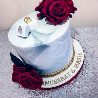 Marble Engagement Cake.