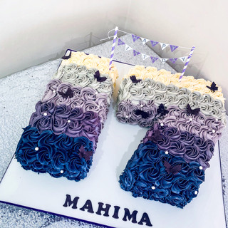 Ombre Number Cake.