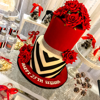 Red and Black Cake.