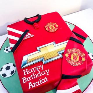 Man United Shirt Cake.