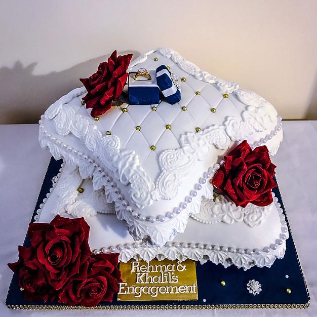 Engagement Pillow Cake.