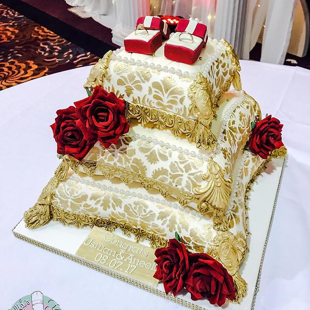 Wedding Pillow Cake.