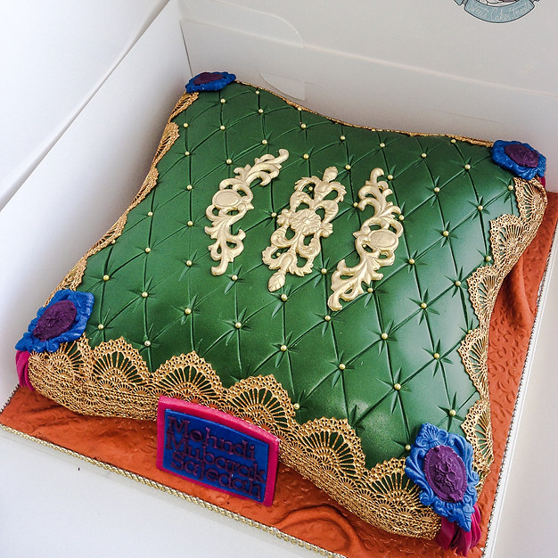 Colourful Pillow Cake.