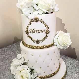2 Tier Birthday Cake.
