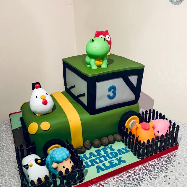 Farm Tractor Cake.
