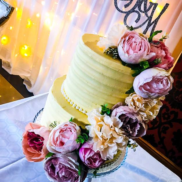 2 Tier Buttercream Cake.