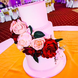 Traditional All White Wedding Cake.