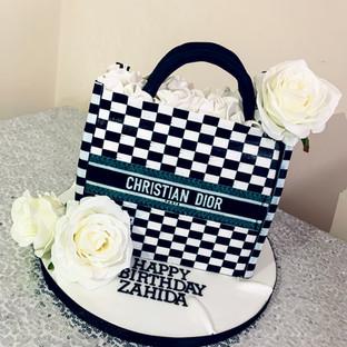 Christian Dior Tote Bag Cake.