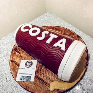 Costa Coffee Cup Cake.