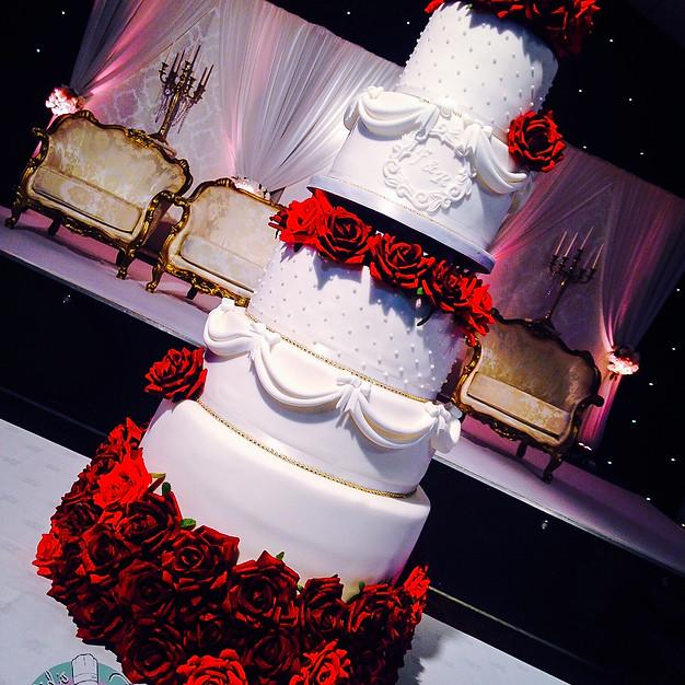Draped Wedding Cake.