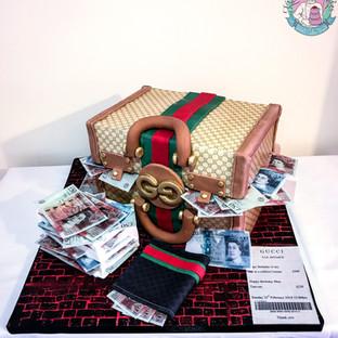 Gucci Suitcase Cake