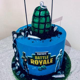 Fortnite Cake With Grenade.