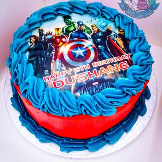 Superhero Buttercream cake.