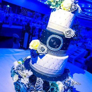 Navy Blue Wedding Cake.