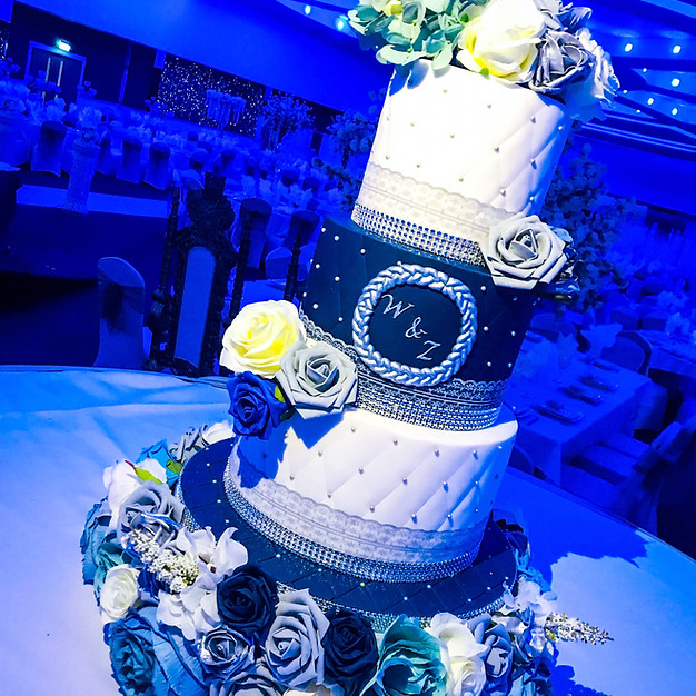 Navy Blue Wedding Cake.