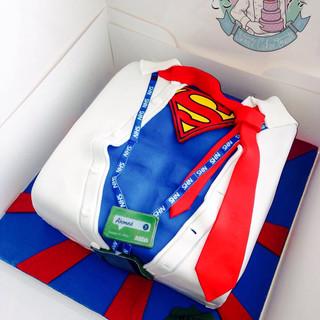 Superman Cake.