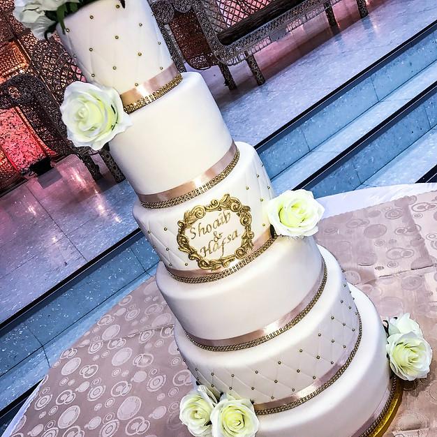 Tall Wedding cake.