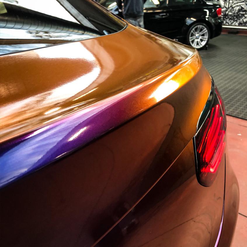 MERCEDES GLC car wrap color flow roa