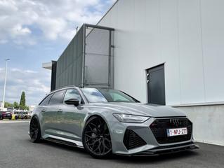 Nardo Grey AUDI RS6 met Vossen wielen krijgt XPEL lakbescherming