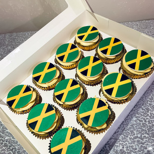 Jamaican Flag Cupcakes.