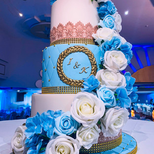 3 Tiered Floral Cake