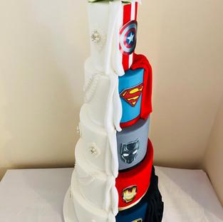 Superhero Wedding Cake.