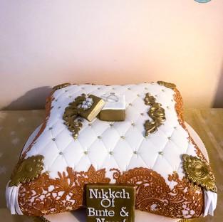 Gold Pillow Cake.