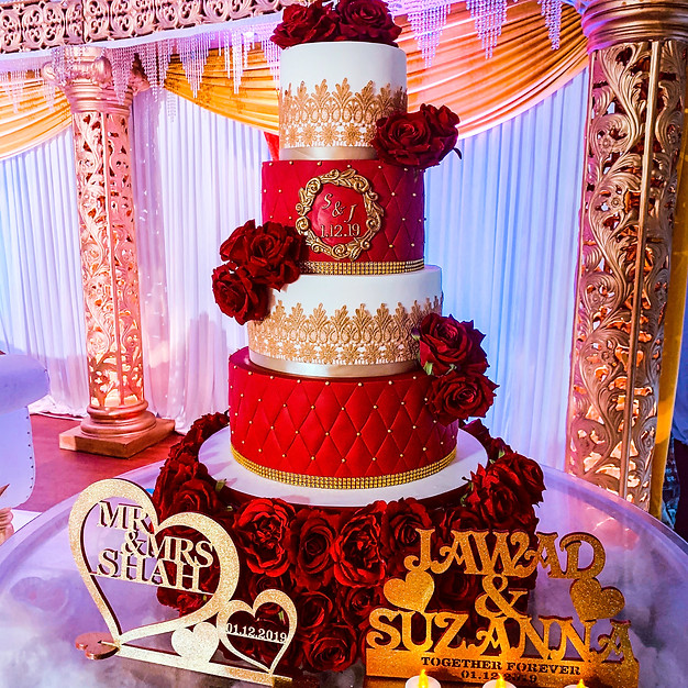 Asian Wedding Lace Cake.