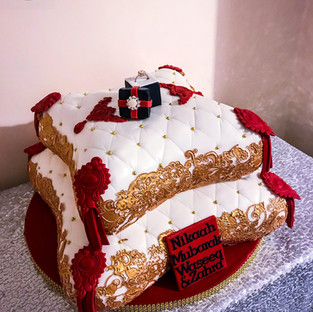 Red Pillow Cake.