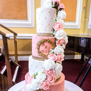 Floral Cascading Wedding Cake.