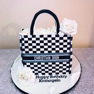 Christian Dior Bag Cake