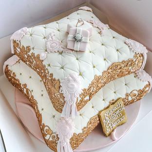 Ring Box Pillow Cake.