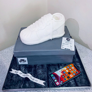 Nike Air Force Trainer Cake.
