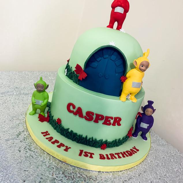 2 Tier Teletubbies Cake.