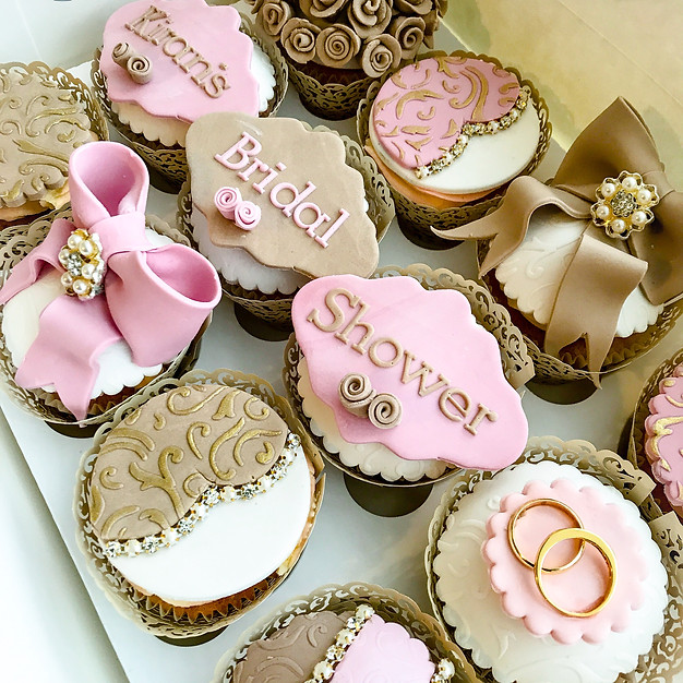Bridal Shower Cupcakes.
